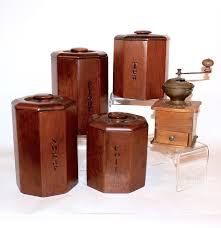 wood canister set vintage wood canister sets kitchen best