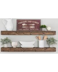 amazing holiday shopping savings on floating shelf floating