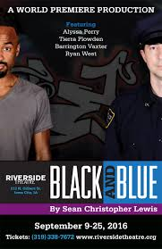riverside theatre big drama in a small place black and blue