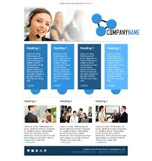 email template call center operator blue free businesssupport 01