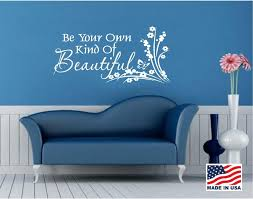 wall decals stickers home decor home furniture diy vinyl wall decal art saying decor be your own kind of beautiful