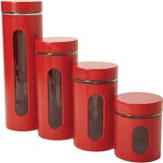 purple kitchen canister sets 4 canister set crimson walmart