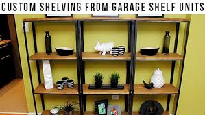 How To Make Wood Shelving Units by Diy Wood And Metal Shelves Knock It Off The Live Well Network