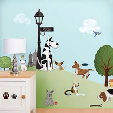 paws park cat and dog wall sticker decal kit jumbo set gatos off through with code paws new dog and cat wall stickers