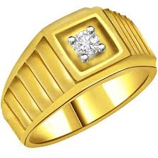 mens gold ring design solitaire rings