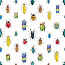 beautiful pattern beautiful pattern with nice watercolor bugs royalty free cliparts