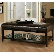 coffee table brown leather ottoman coffee table home designs ideas
