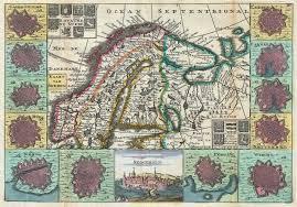 Scandinavia Map File 1747 La Feuille Map Of Scandinavia Sweden Norway Finland