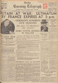the derby daily telegraph announces the start of ww2 coh2