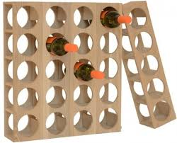 wine 0 five bottle wine rack solid oak by wireworks wine racks