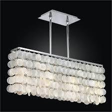 capiz flush mount light rectangular capiz shell chandelier surfside 637 glow lighting