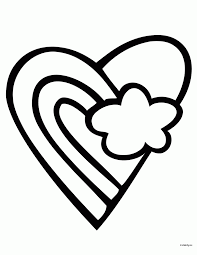 rainbow heart coloring pages coloring home