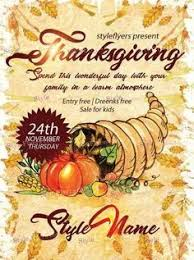 thanksgiving flyer template by hotpin on creative market print