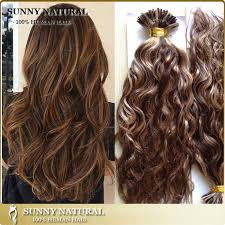 keratin tip extensions russian i tip hair extension 1g stand wavy stick tip hair color 4