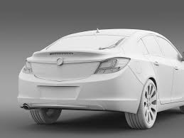 vauxhall insignia white vauxhall insignia hatchback 2009 2013 by creator 3d 3docean