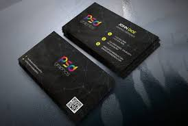 black business card template free psd psd graphics