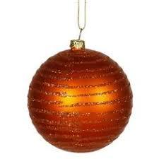burnt orange glitter drenched snowflake ornament 12