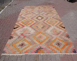 Large Kilim Rugs Handmade Vintage Turkish Kilim Rug Large Rug Area Rugs