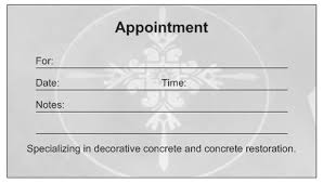 custom card template appointment card template word free card
