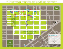 San Francisco Neighborhood Map by San Francisco Tenderloin Map Michigan Map