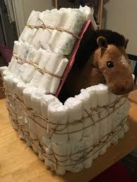 diaper cakes are boring but a diaper barn for a cowboy themed