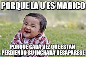 U Meme - porque la u es magico evil kid meme en memegen