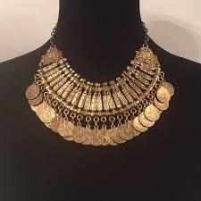 gold vintage statement necklace images Vintage jewelry egyptian gold coin statement necklace poshmark jpg