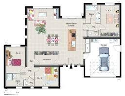plan maison 100m2 3 chambres plan maison plain pied 100m2 3 chambres plan de maison