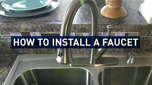 Kitchen Faucet Installation by How To Replace A Kitchen Faucet Youtube