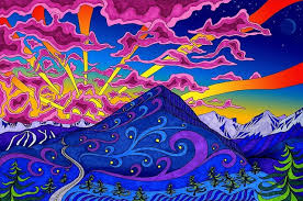 Trippy Room Decor Psychedelic Trippy Art Fabric Cloth Rolled Wall Poster Painting On