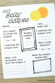 2017 solar eclipse worksheet printable the suburban mom