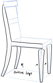 Simple Chair How To Draw A Chair In The Correct Perspective With Easy Steps