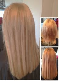 hairstyles for bonded extentions half head of fusion bonded extensions in mixed blondes creating