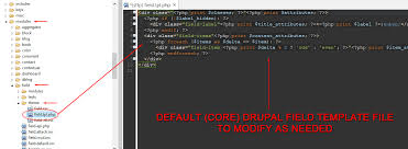 how to override field templates in drupal 7 3c web services of