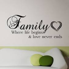 Family And Love Quotes by 21 Wall Decal Family Where Life Begins And Love Never Ends