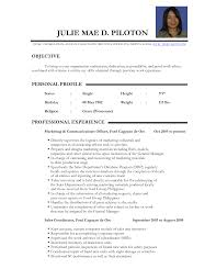 Resume Samples Of Teachers by Sample Resume For Teacher In The Philippines Templates