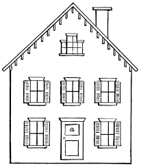 Home Clipart White House Clipart Black And White Pencil And In Color White