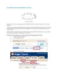 cara membuat blog tulisan cara membuat tulisan mengikuti cursor