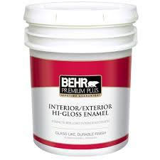home depot interior paint colors behr premium plus 1 gal ultra pure white hi gloss enamel interior