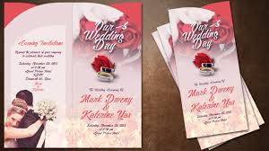 creative wedding invitations how to make creative wedding invitations cover in photoshop
