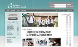 alumni website software college high school alumni website design software
