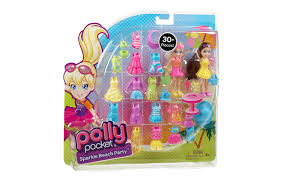 amazon polly pocket beach fashion pack toys u0026 games