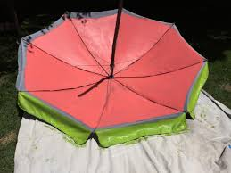 paint a fun watermelon pattern on your outdoor umbrella how tos