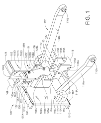 patent us8555995 three point front hitch mountable to the frame