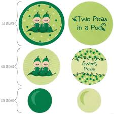 Two Peas In A Pod Ornament Twins Two Peas In A Pod Confetti And Balloon Party Decorations