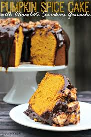 Pumpkin Cake Halloween by Pumpkin Spice Cake With Chocolate Snickers Ganache Frugal Mom Eh