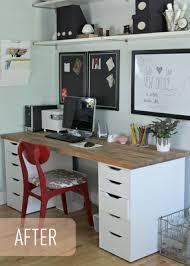bureau de ikea un coin bureau sur mesure pour moins de 300 ikea office office