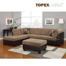 Corner Sofa Chaise Light Brown Corduroy Sectional Sofa 2pc Set Sofa Couch Chaise Sofa