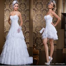 discount custom made new style 2 in 1 wedding dress 2017 vintage