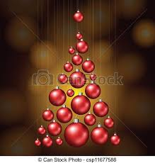 vector of tree made from balls balls